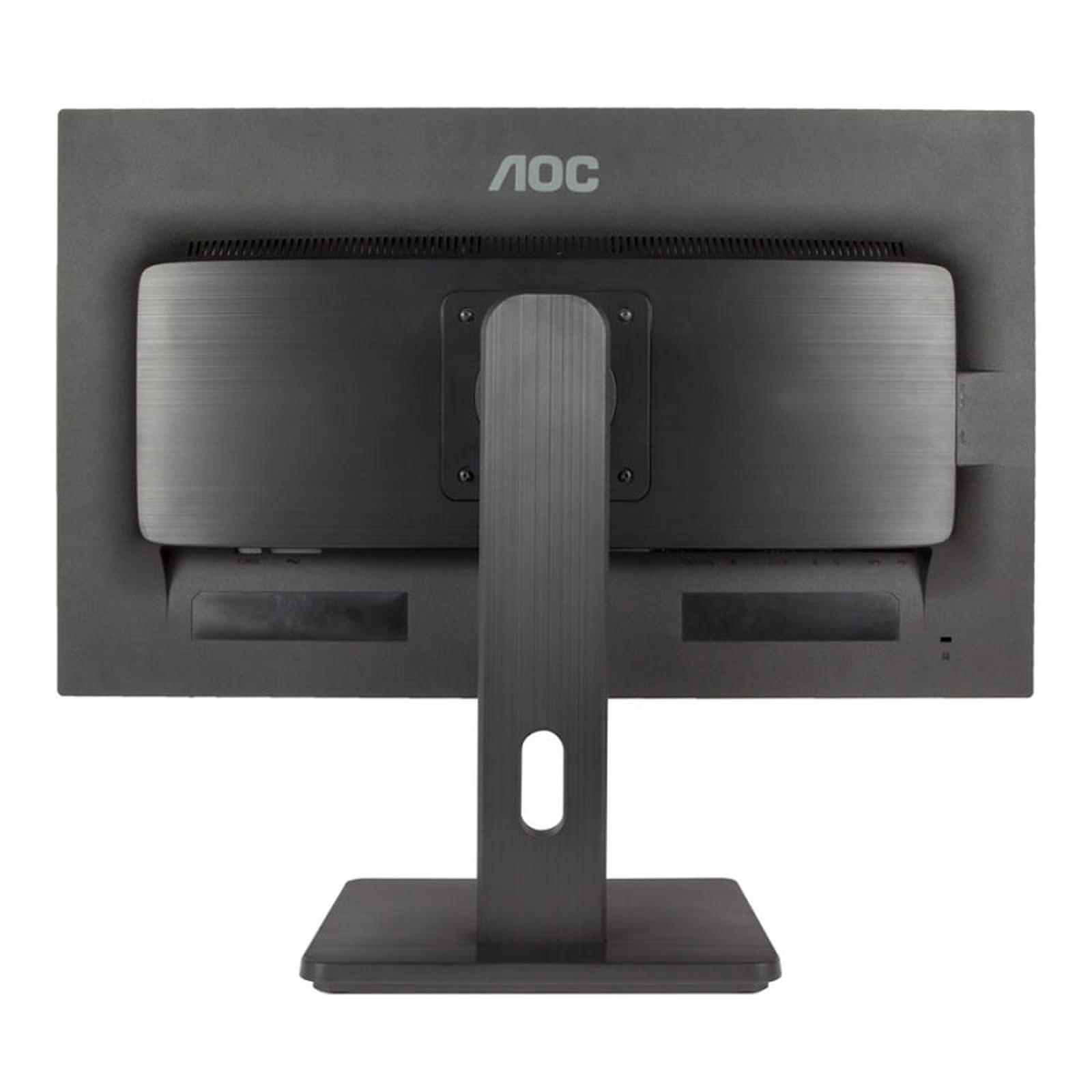 Ecran Moniteur LED 24 pouces AOC e2475Pwj 16/9eme (2ms) VGA/DVI/HDMI,Informatique Réunion 974