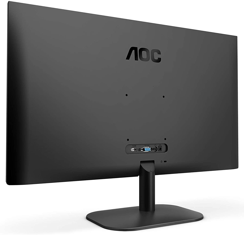 Ecran Moniteur IPS 24 pouces AOC 24B2XDA 16/9eme Full HD (4ms) 75 Hz HDMI/DVI/VGA VESA,Informatique Réunion 974