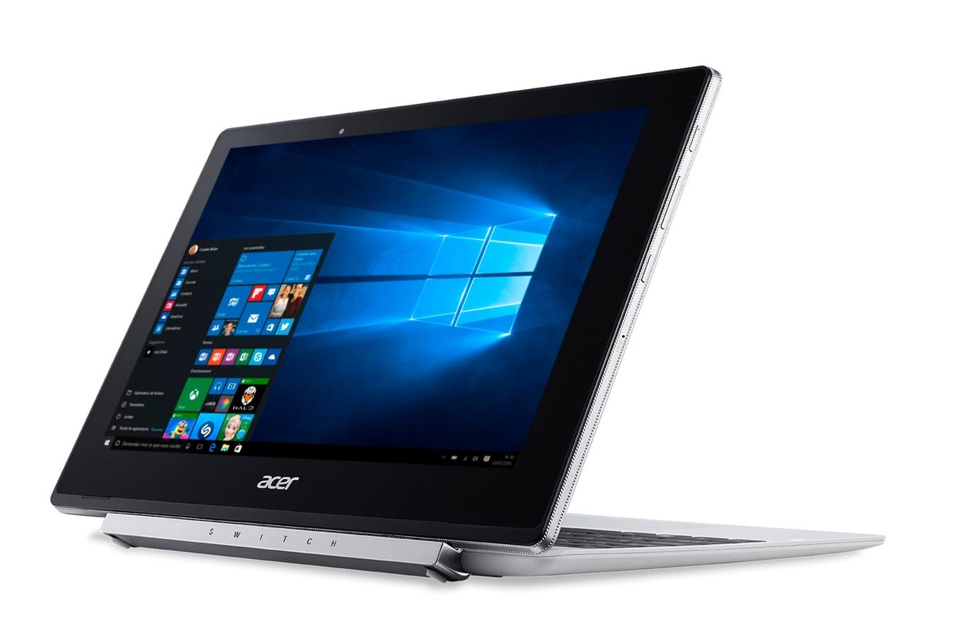 Ordinateur Portable Hybride Acer Switch V 10, clavier amovible - Atom x5-Z8350 - HD Graphics - 64 Go SSD - 10.1 pouces - Wifi/LAN/Bluetooth - 4 Go DDR3 - Windows 10 Home,informatique Reunion 974, Futur Réunion informatique