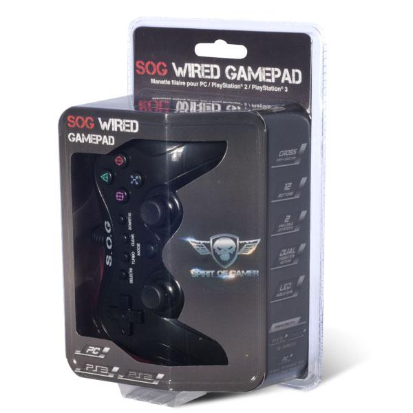 >Manette filaire Spirit of Gamer Wired Gamepad pour PC, PlayStation 2 et 3 , informatique Reunion, 974, Futur Réunion