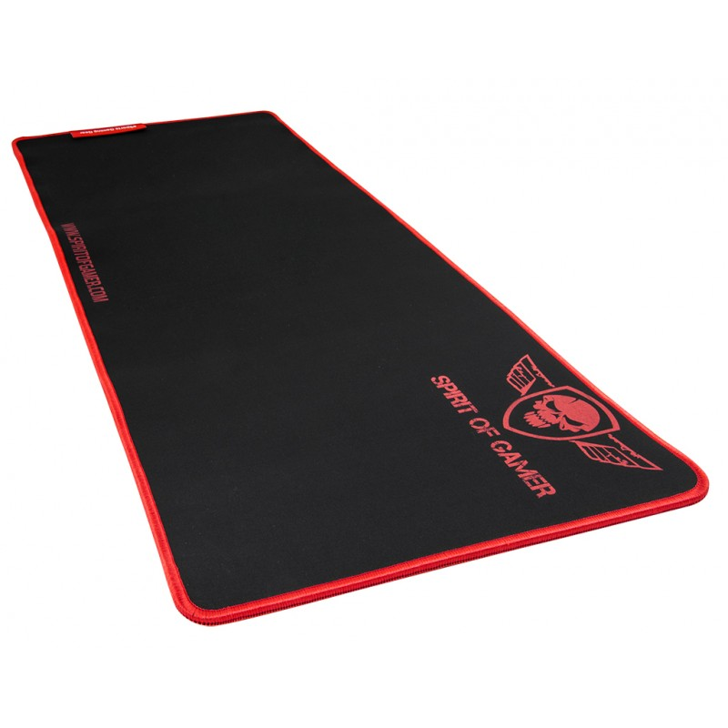 Tapis de souris SPIRIT OF GAMER REF SOG-PAD01XXR - ROUGE XXL Gaming (300 x 780 x 5mm),Informatique Réunion 974