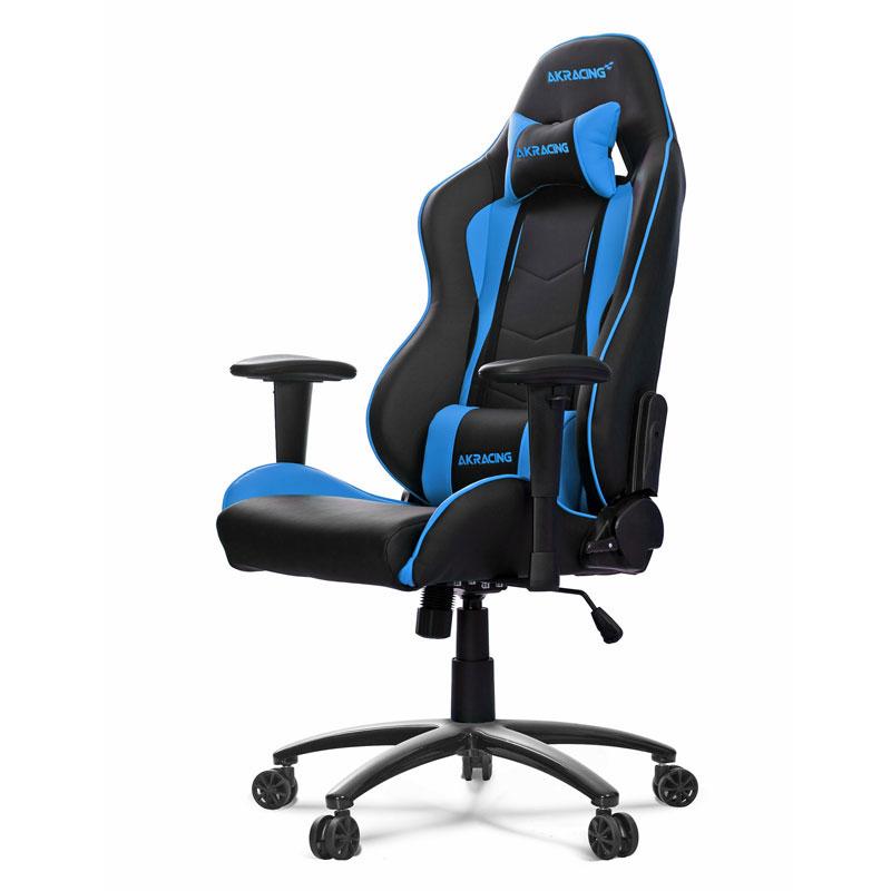 Siège Gamer Akaracing Nitro Noir et Bleu, fauteuil, siège, siège gamer, informatique 974, informatique ile de la réunion