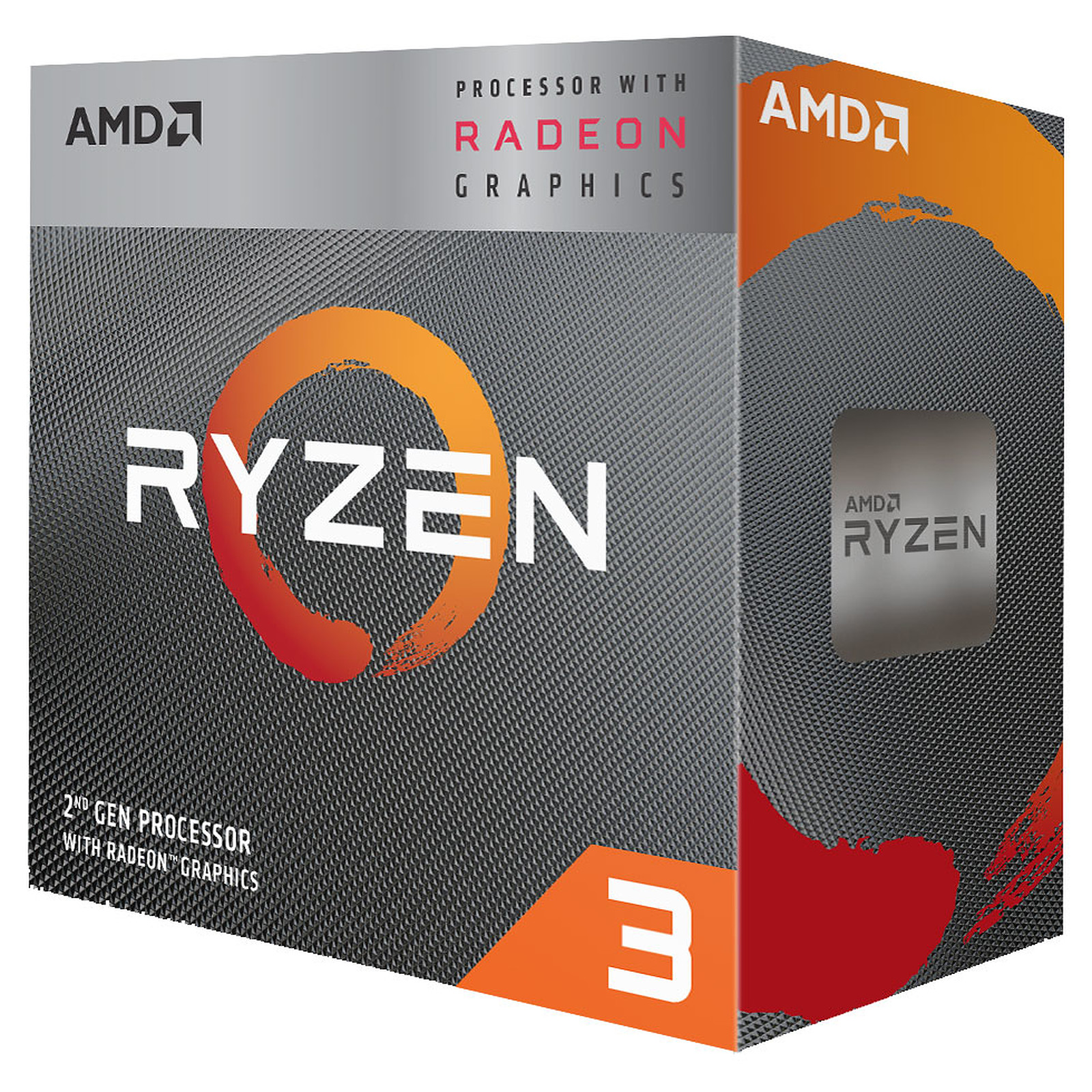 Processeur AMD 4 Core/4 Threads Socket AM4 Ryzen 3 3200G 6 Mo (Boîte, informatique ile de la Réunion, informatique-reunion.com