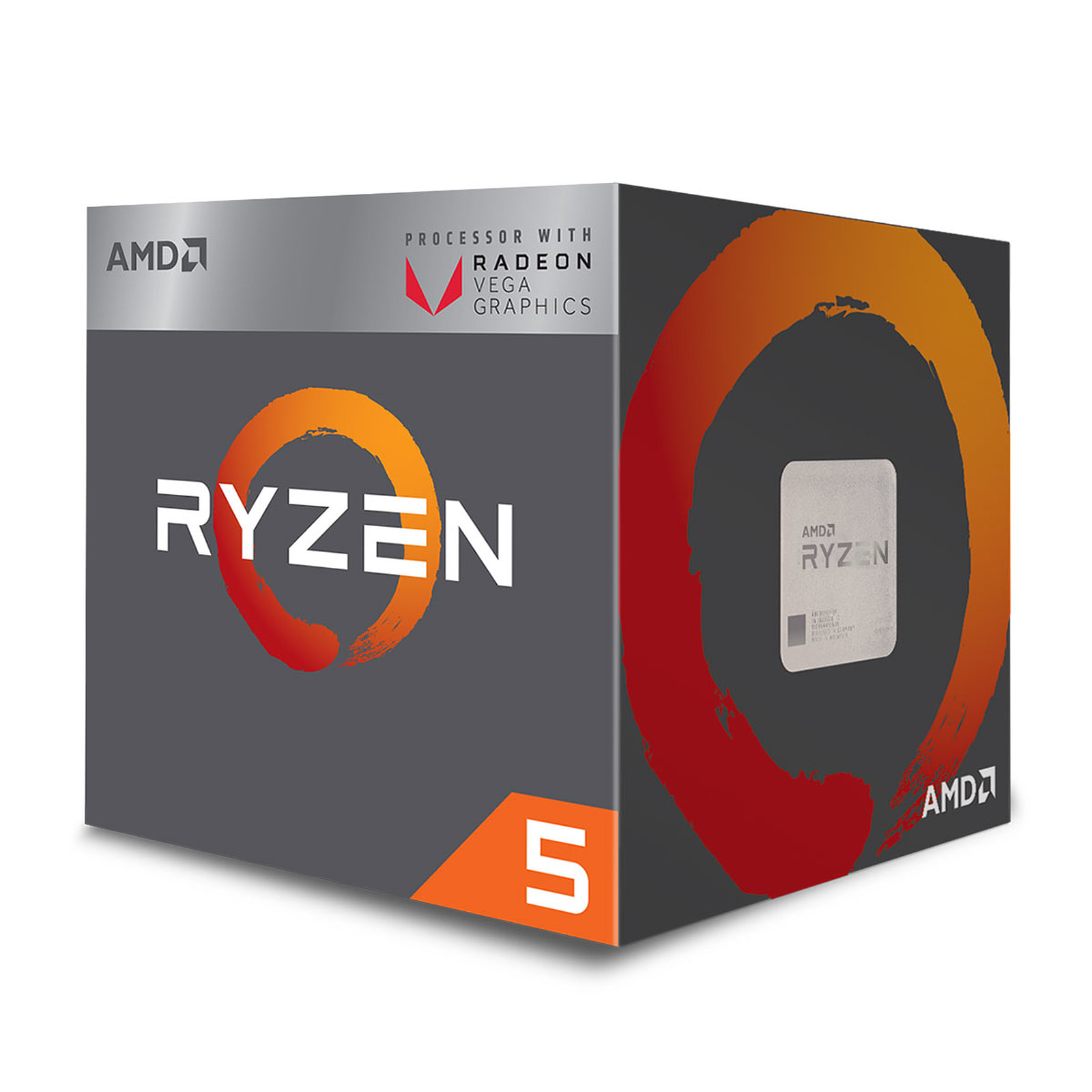 Processeur AMD 4 Core/8 Threads Socket AM4 Ryzen 5 2400G 6 Mo (Boîte), informatique ile de la Réunion, informatique-reunion.com