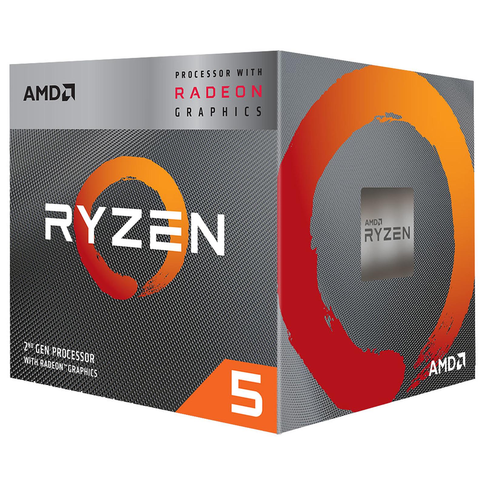 Processeur AMD 4 Core/8 Threads Socket AM4 Ryzen 5 3400G 6 Mo (Boîte), informatique ile de la Réunion, informatique-reunion.com