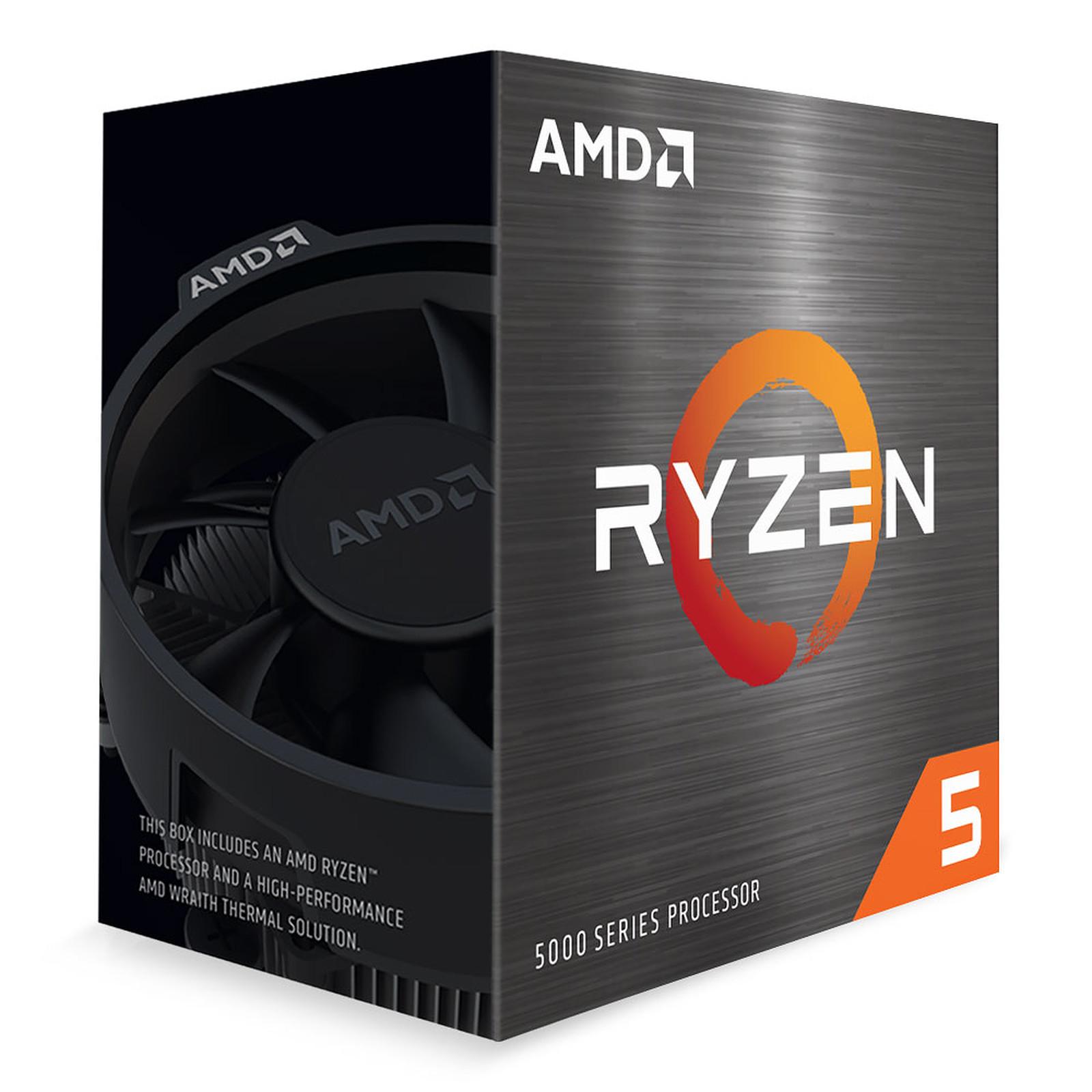 Processeur AMD 6 Cores/12 Threads Socket AM4 Ryzen 5 5600X 35 Mo (Boîte) avec radiateur (pad thermique inclu) PCIe 4.0, informatique ile de la Réunion, informatique-reunion.com