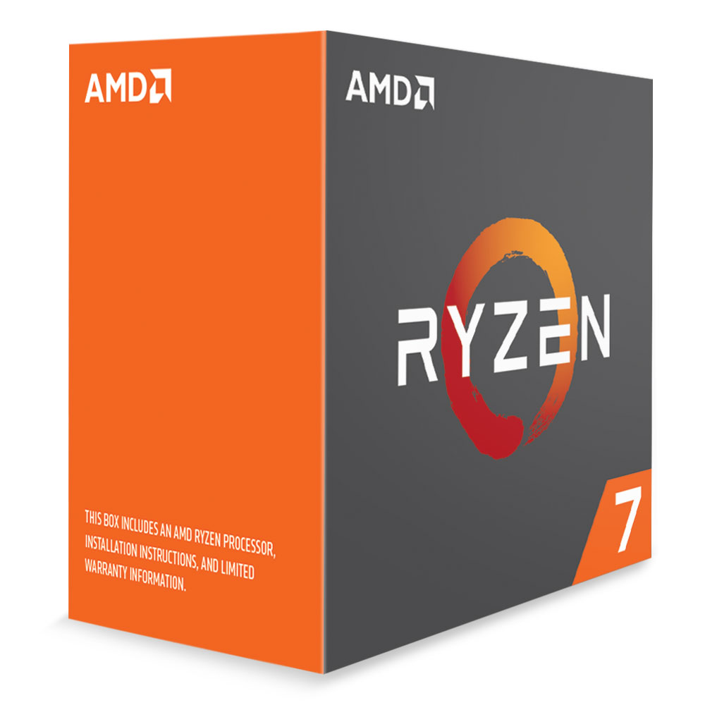 Processeur AMD 8 Core/16 Threads Socket AM4 Ryzen 7 1700 20 Mo (Boîte), informatique ile de la Réunion, informatique-reunion.com