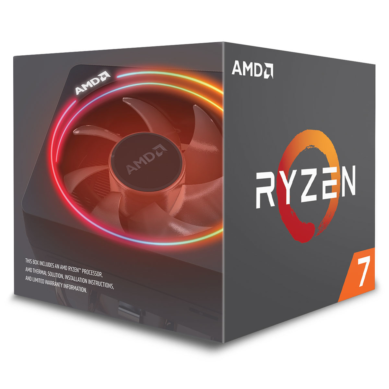 Processeur AMD 8 Core/16 Threads Socket AM4 Ryzen 7 2700X 20 Mo (Boîte), informatique ile de la Réunion, informatique-reunion.com