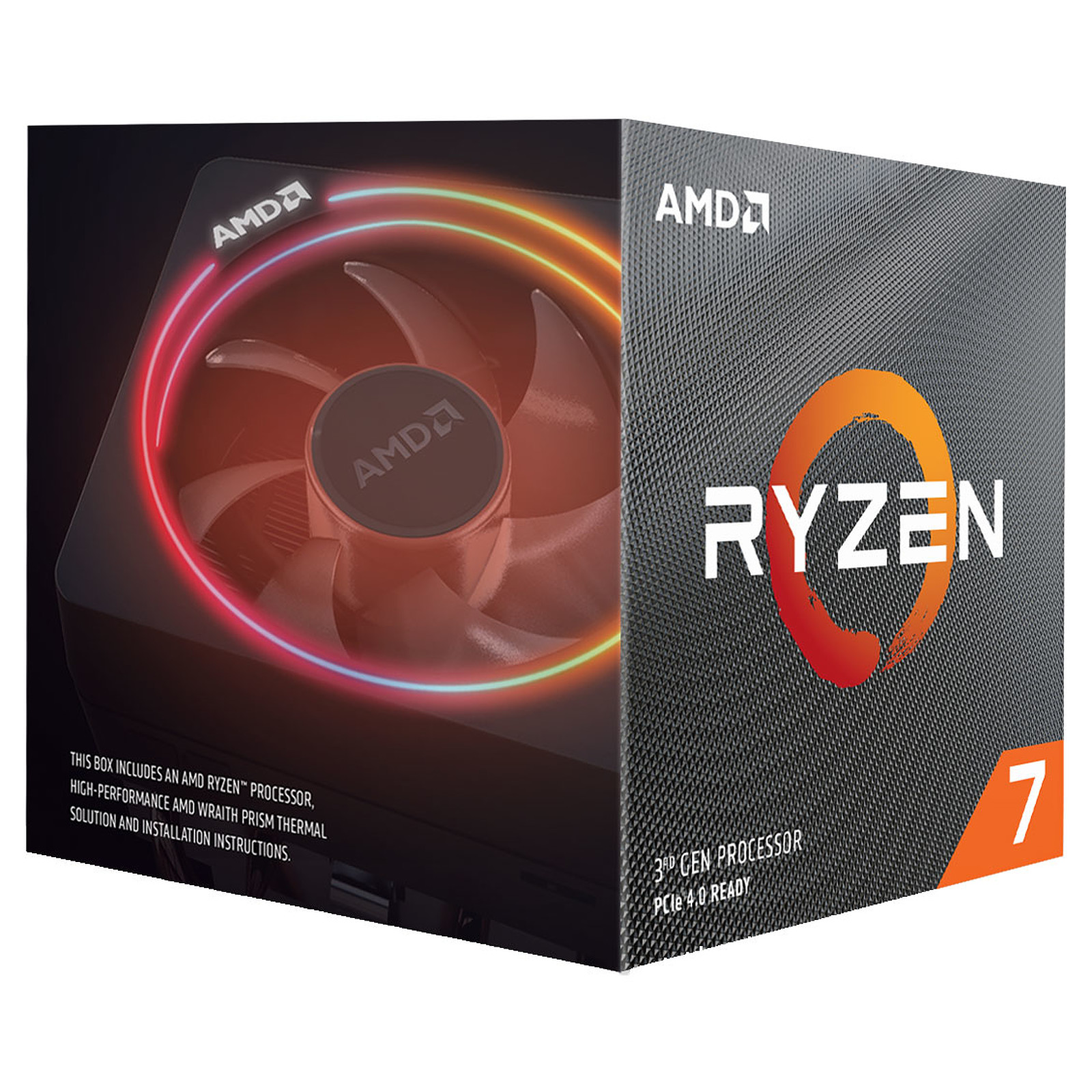 Processeur AMD 8 Core/16 Threads Socket AM4 Ryzen 7 3700X 32 Mo (Boîte), informatique ile de la Réunion, informatique-reunion.com