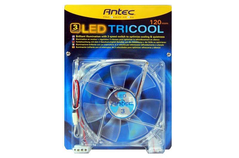 Ventilateur 120 mm pour boitier Antec Tri Cool Led bleu, informatique ile de la Réunion 974, Futur Réunion Informatique