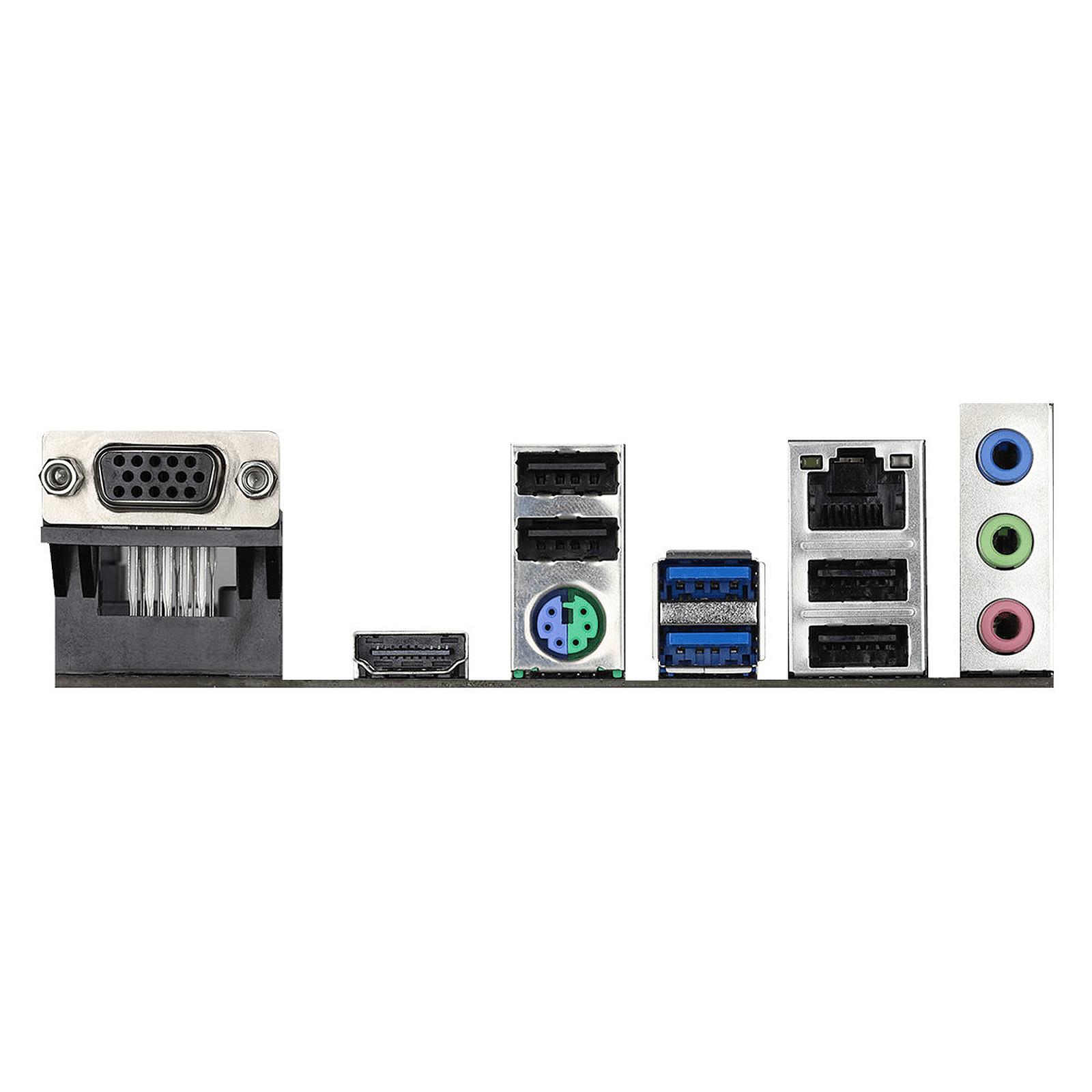 Carte mère ASRock H410M-HVS Socket 1200 (Intel H410 Express) mATX, informatique ile de la Réunion 974