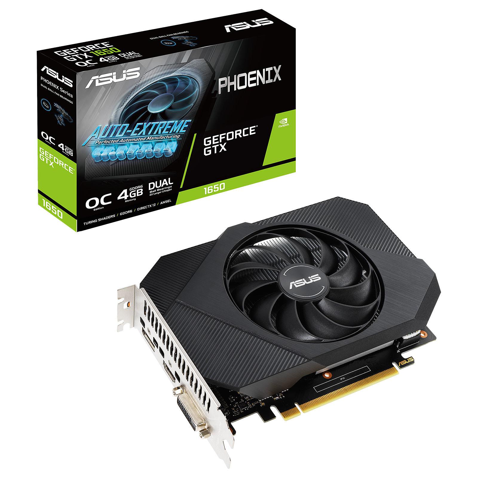 Carte graphique ASUS Phoenix GeForce GTX 1650 OC Edition 4 Go GDDR6 PCIe 3.0, informatique reunion, informatique ile de la Réunion 974