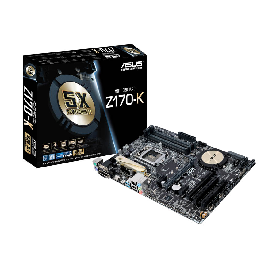 Carte mère Asus Z170-K Socket 1151 (Intel Z170 Express) ATX, informatique ile de la Réunion 974