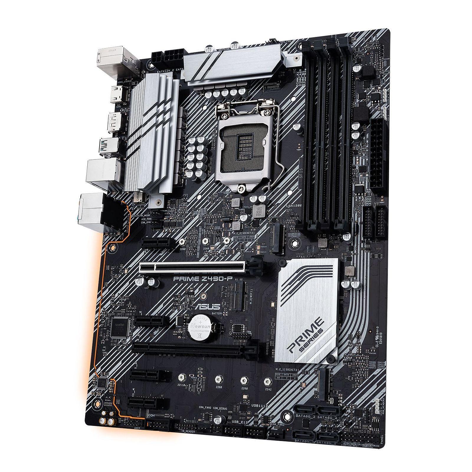 Carte mère Asus Prime Z490P Socket 1200 (Intel Z490 Express) ATX, informatique ile de la Réunion 974
