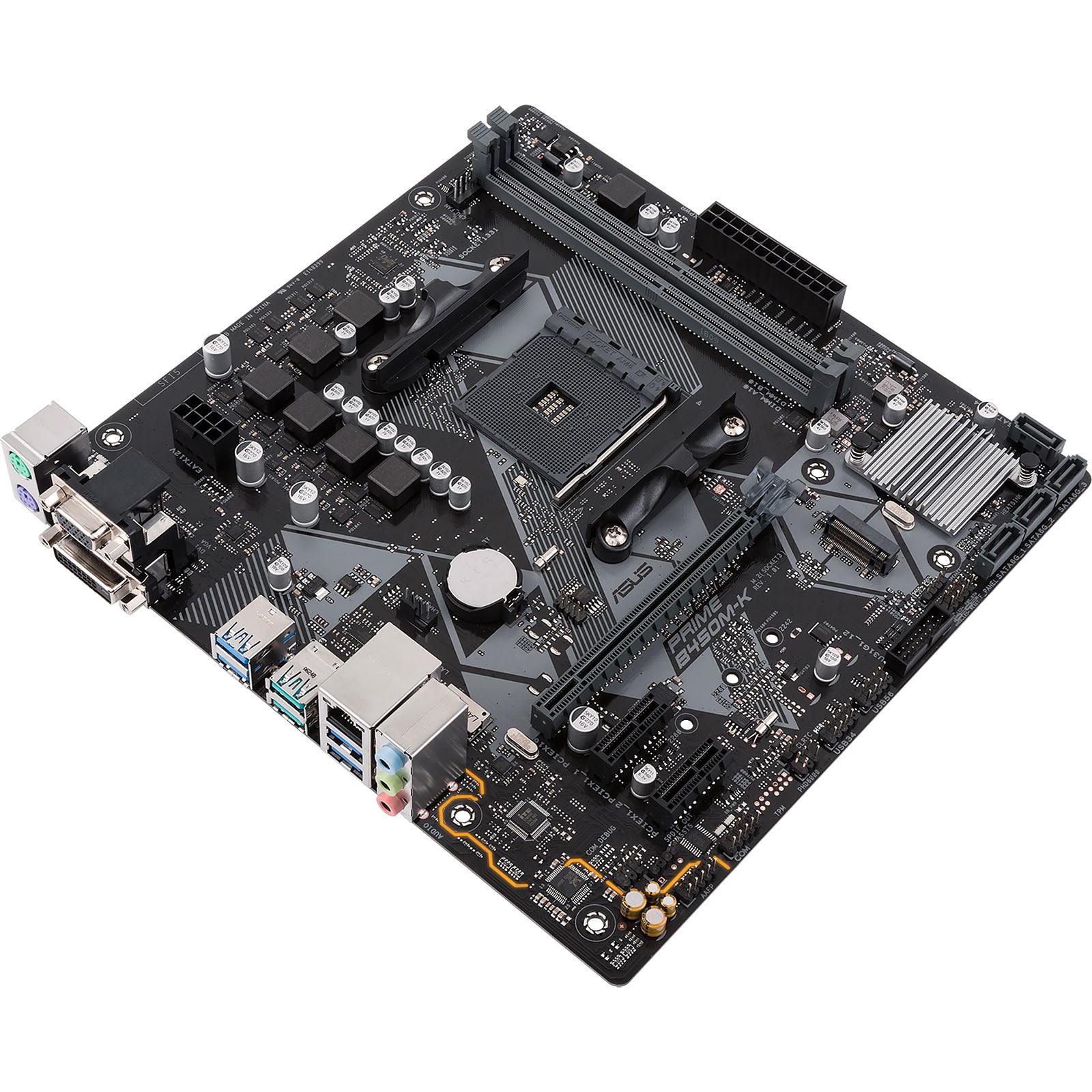 Carte mère ASUS PRIME B450M-K Socket AM4 (AMD B450) mATX, informatique ile de la Réunion 974