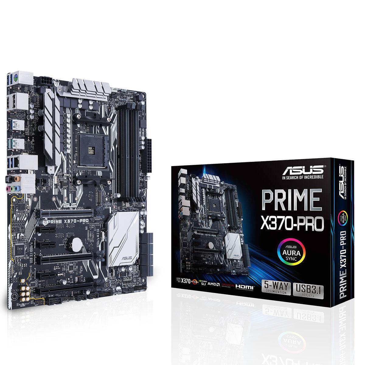 Carte mère Asus ASUS PRIME X370-PRO Socket AM4 (AMD X370) ATX, informatique ile de la Réunion 974