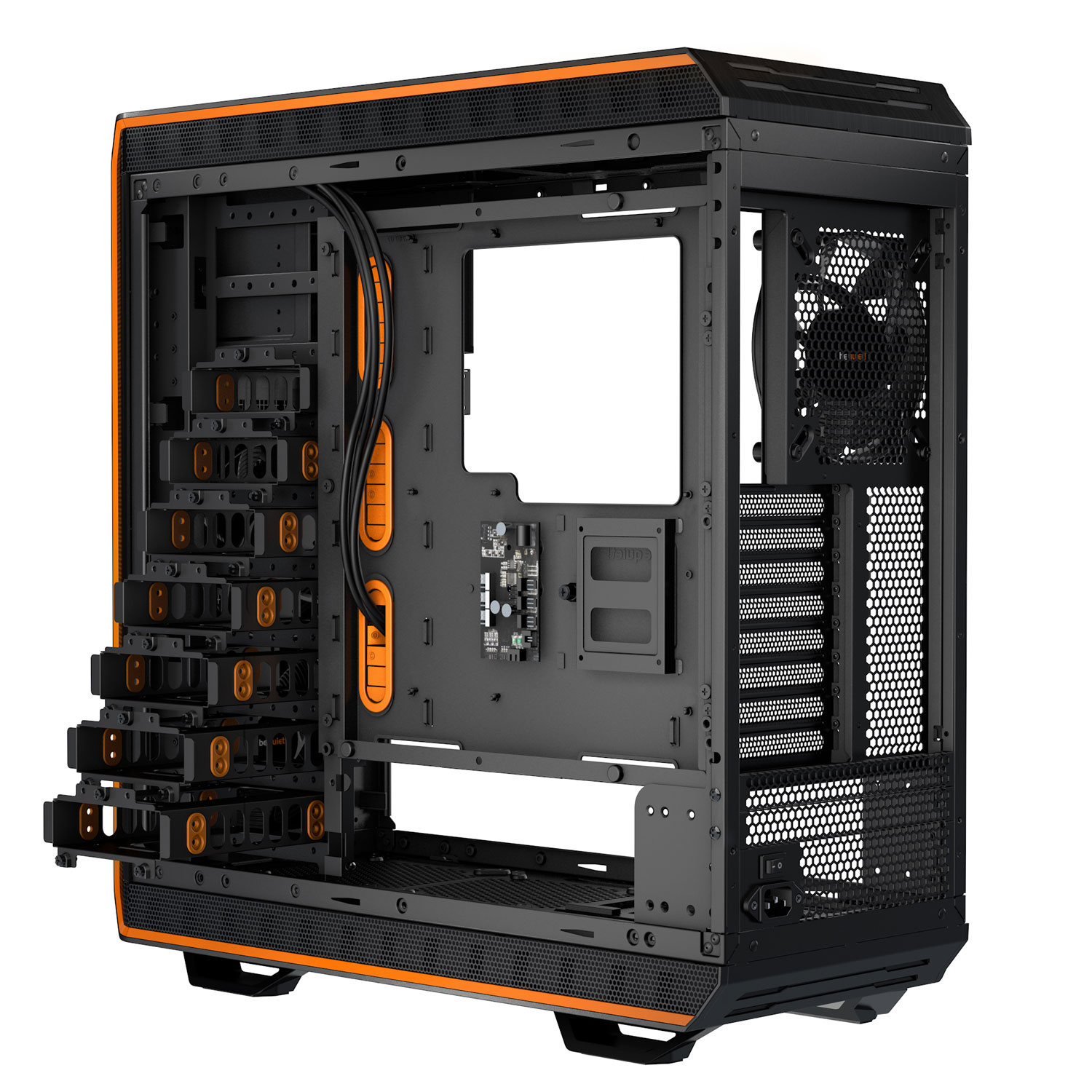 Boitier PC Be Quiet Dark Base 900 Noir/Orange(sans alim), informatique ile de la Réunion 974