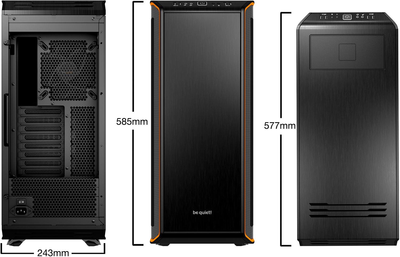 Boitier PC Be Quiet Dark Base 900 Noir/Orange(sans alim), informatique ile de la Réunion 974