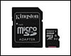 Carte mémoire Kingston micro SDXC 128 Go + adaptateur SDXC, CL10