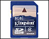 Carte mémoire Kingston SDHC 8 Go CL4