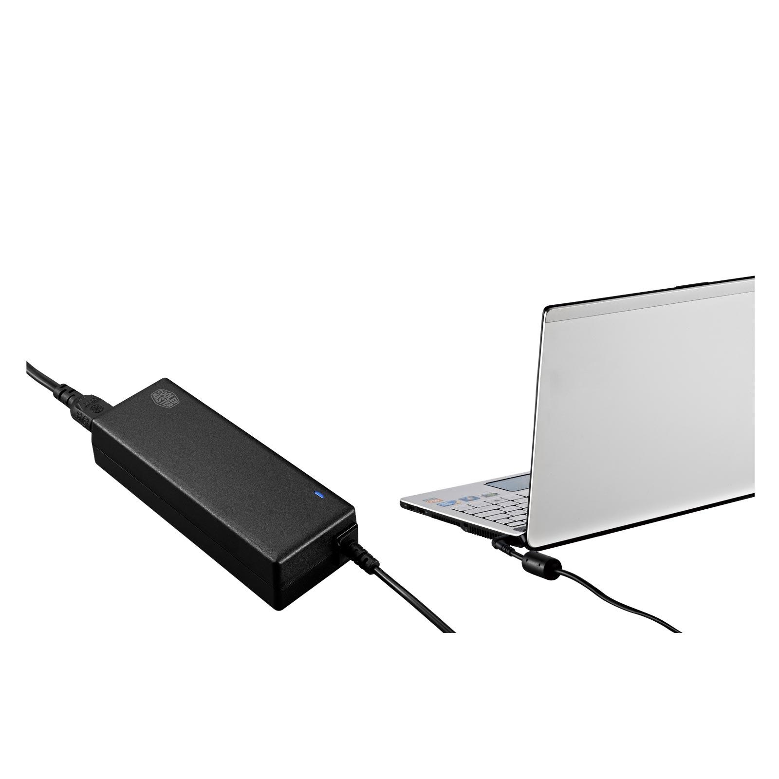 alimentation chargeur universel pour pc portable cooler master 65w. Black Bedroom Furniture Sets. Home Design Ideas