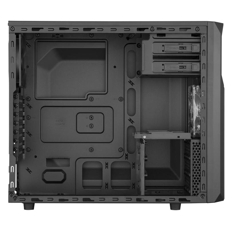 Boitier PC Corsair Carbide Series SPEC-02 Moyen Tour Noir Red LED avec fenêtre (sans alim), informatique ile de la Réunion 974