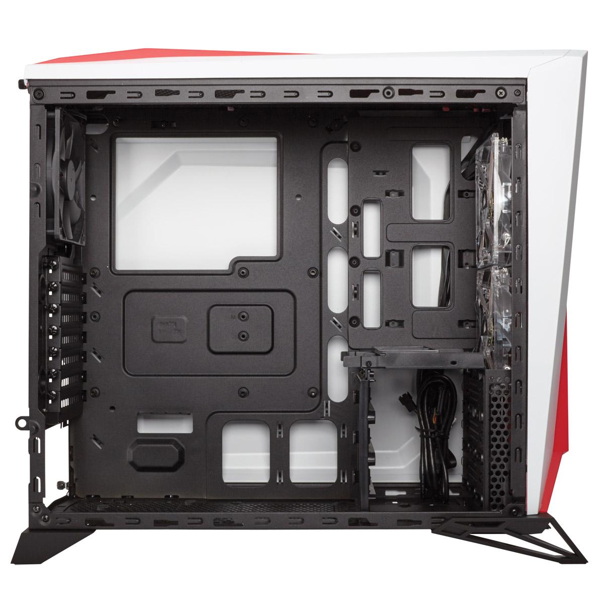 Boitier PC Corsair Carbide Series SPEC Alpha Moyen Tour Blanc/Rouge avec fenêtre (sans alim), informatique ile de la Réunion 974