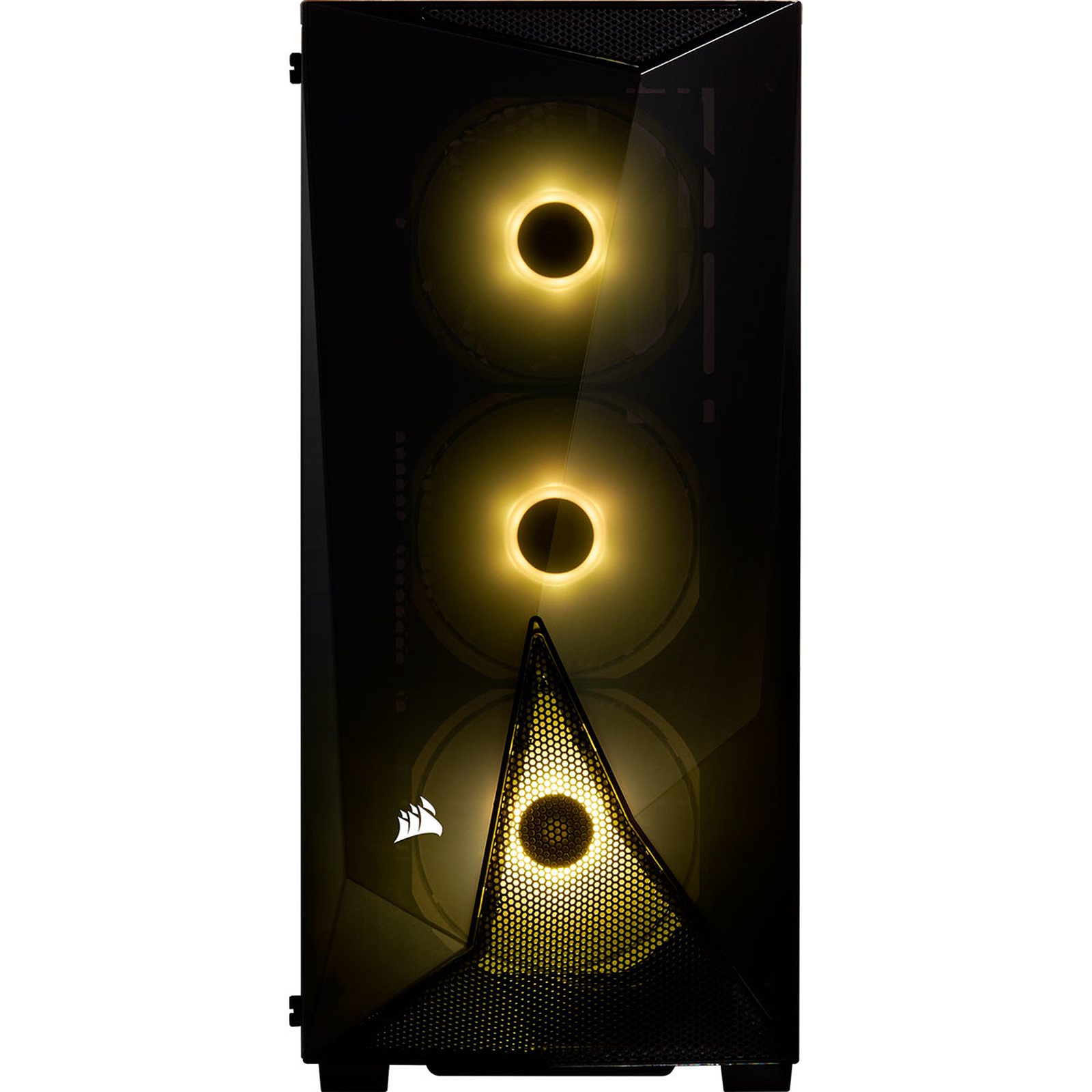 Boitier PC ATX, Micro-ATX, Mini-ITX Corsair Carbide SPEC-DELTA RGB noir avec fenêtre sans alim, informatique reunion, informatique ile de la Réunion 974