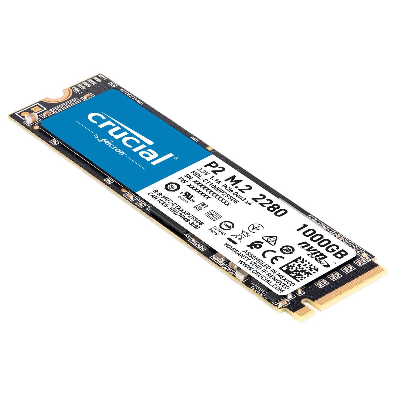 Disque dur SSD Crucial P1  M.2 PCIe NVMe 1 To, informatique ile de la Réunion 974