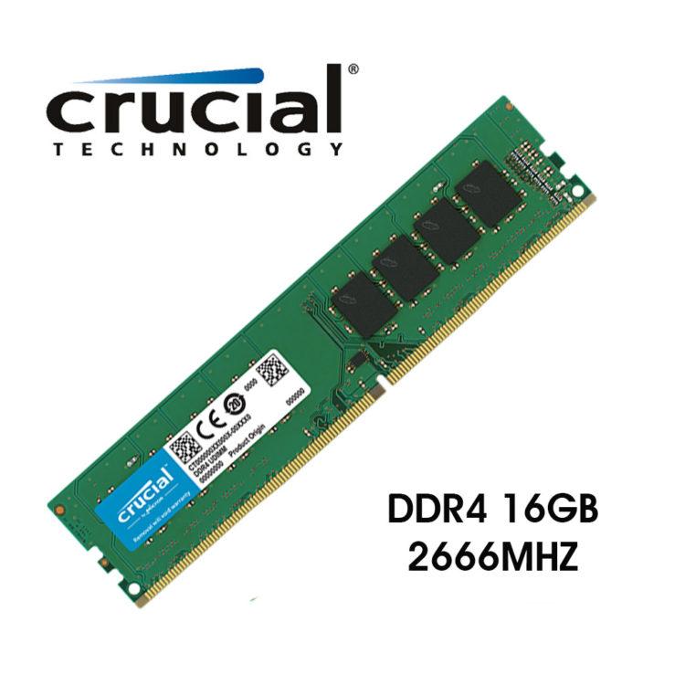 Mémoire Crucial 16 Go DDR4 2666 MHz CL19, informatique ile de la Réunion 974