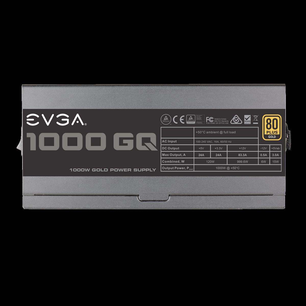 Alimentation modulaire PC 1000W EVGA GQ 1000W 80PLUS Gold, informatique ile de la Réunion 974, Futur Réunion Informatique