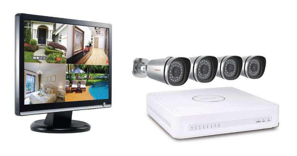 Kit de Vidéosurveillance Foscam IP POE – HD 4 Caméras 720P – NVR + 1To HDD, informatique ile de la Réunion 974