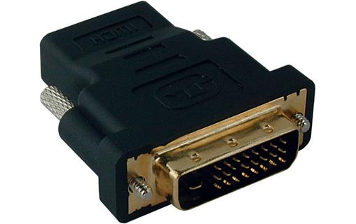 Adaptateur DVI-D (24+1) mâle vers HDMI femelle, informatique ile de la  reunion 974