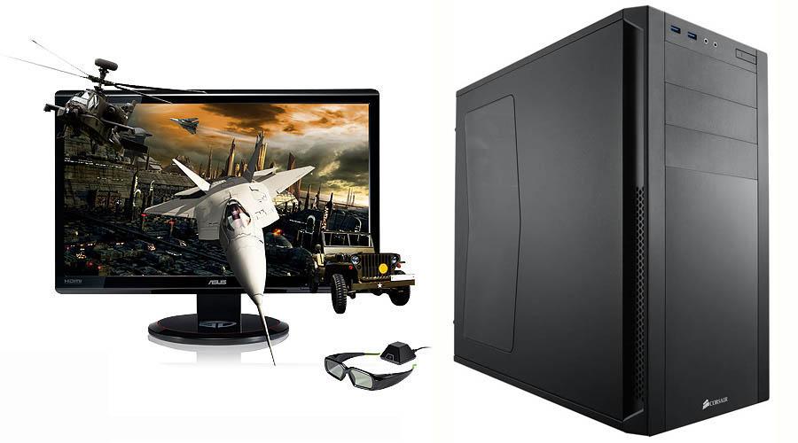 Ordinateur 3D GAMER Intel Core i5 Quad 4460 Haswell + moniteur 3D Asus 23 pouces 120Hz, informatique ile de la Réunion 974