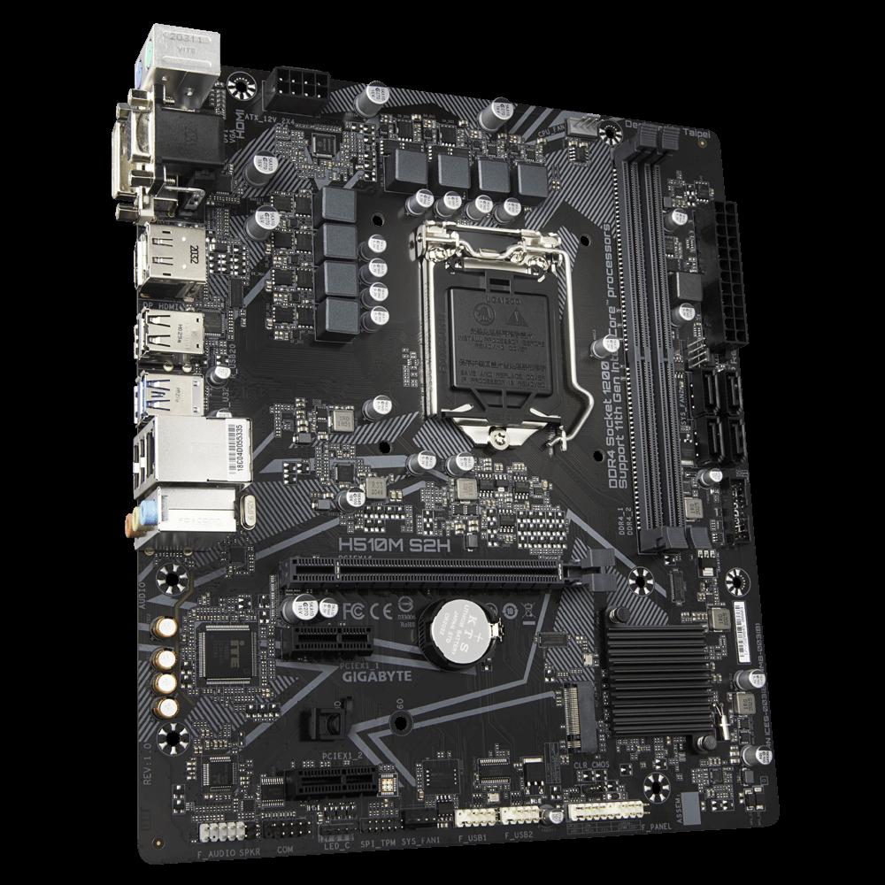 Carte mère Gigabyte H510M-S2H Socket 1200 (Intel H510 Express) mATX, informatique ile de la Réunion 974
