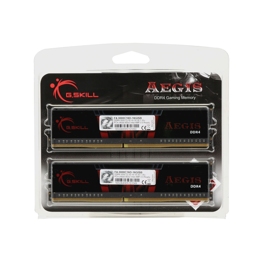 Mémoire G.Skill Aegis Kit 2x 8 Go DDR4 3000 MHz CL16, informatique ile de la Réunion 974
