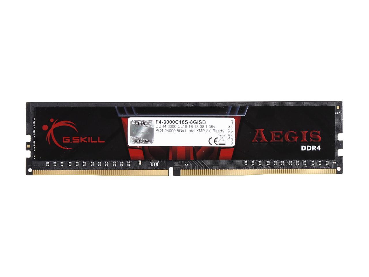 Mémoire G.Skill Aegis 8 Go  DDR4 3000 MHz CL16, informatique ile de la Réunion 974
