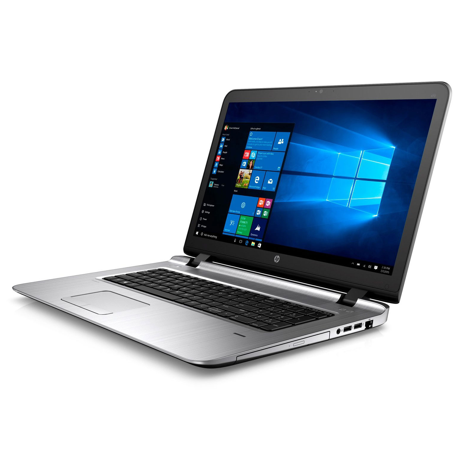 Ordinateur portable HP Probook 470 G3 17.3 pouces full HD, Windows 10, Intel Core i7 6500U, informatique Reunion 974, Futur Réunion informatique