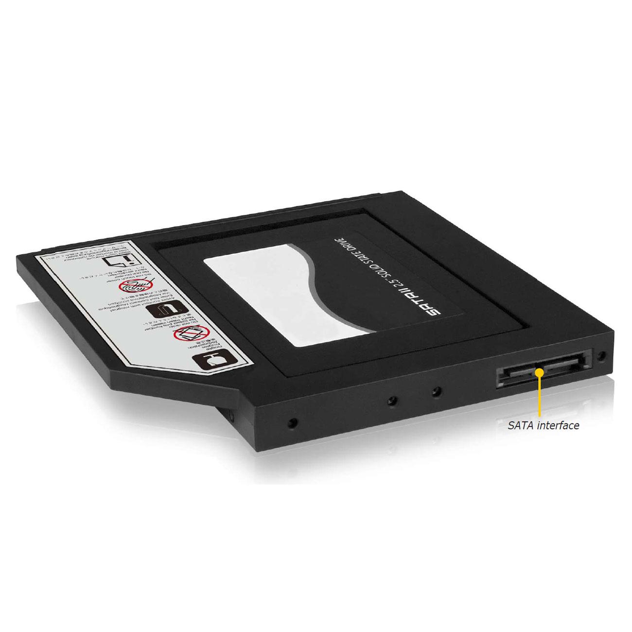 Adaptateur IB-AC642 pour disque HDD/SSD 2.5 pouces pour ordinateur portable + Boîtier externe pour graveur DVD Slim, informatique ile de la Réunion 974