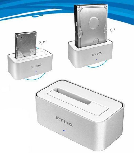 Station d'accueil ICY Box IB-111STU3-WH pour disque dur 3.5 ou 2.5 SATA vers USB 3.0, informatique ile de la Réunion 974