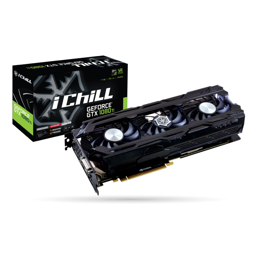 Carte graphique Inno3D GeForce GTX 1080 Ti iCHILL X3 11 Go DDR5X PCIe 3.0, informatique reunion, informatique ile de la Réunion 974