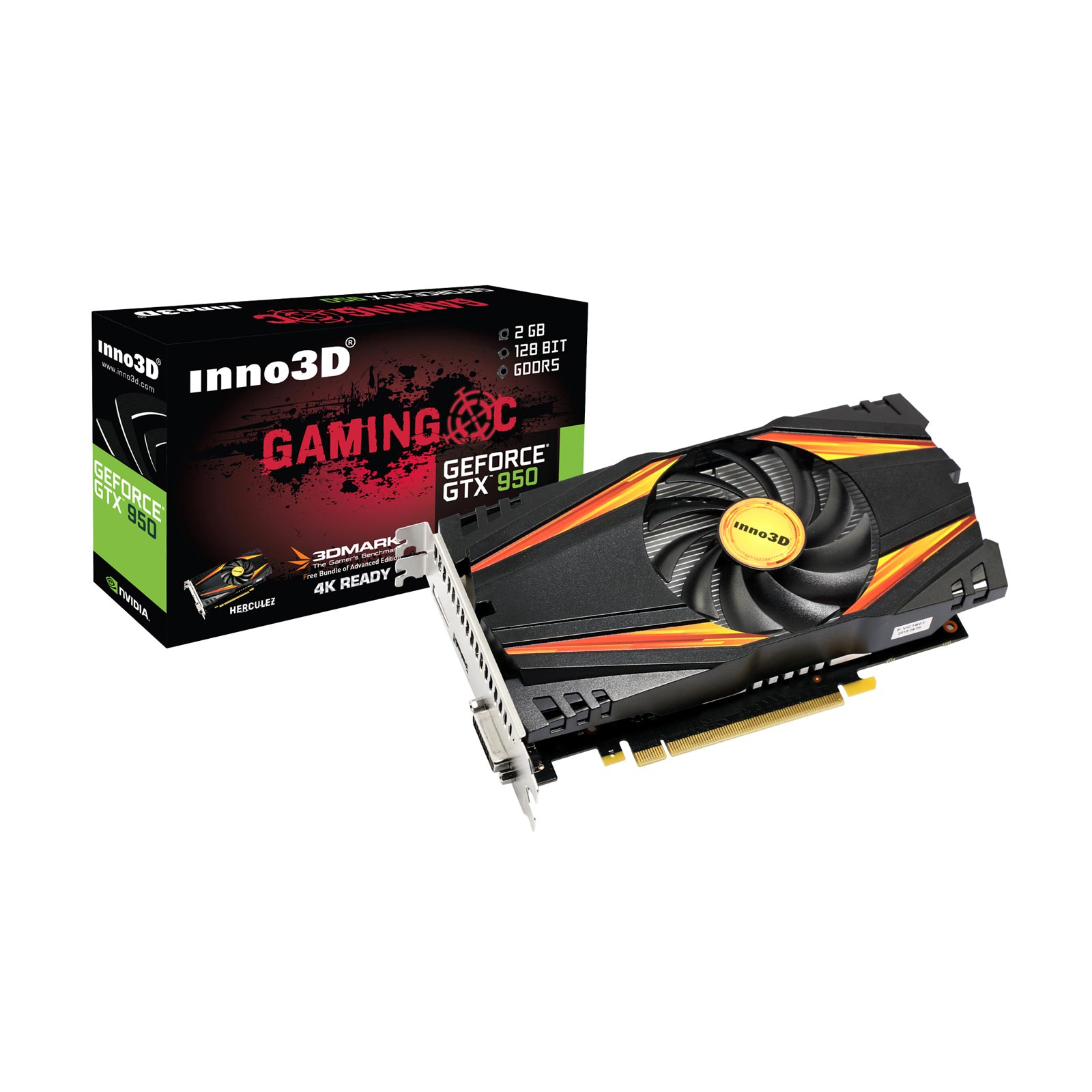 Carte graphique Inno3D GeForce GTX 950 OC 2Go DDR5 PCIe 3.0, informatique reunion, informatique ile de la Réunion 974