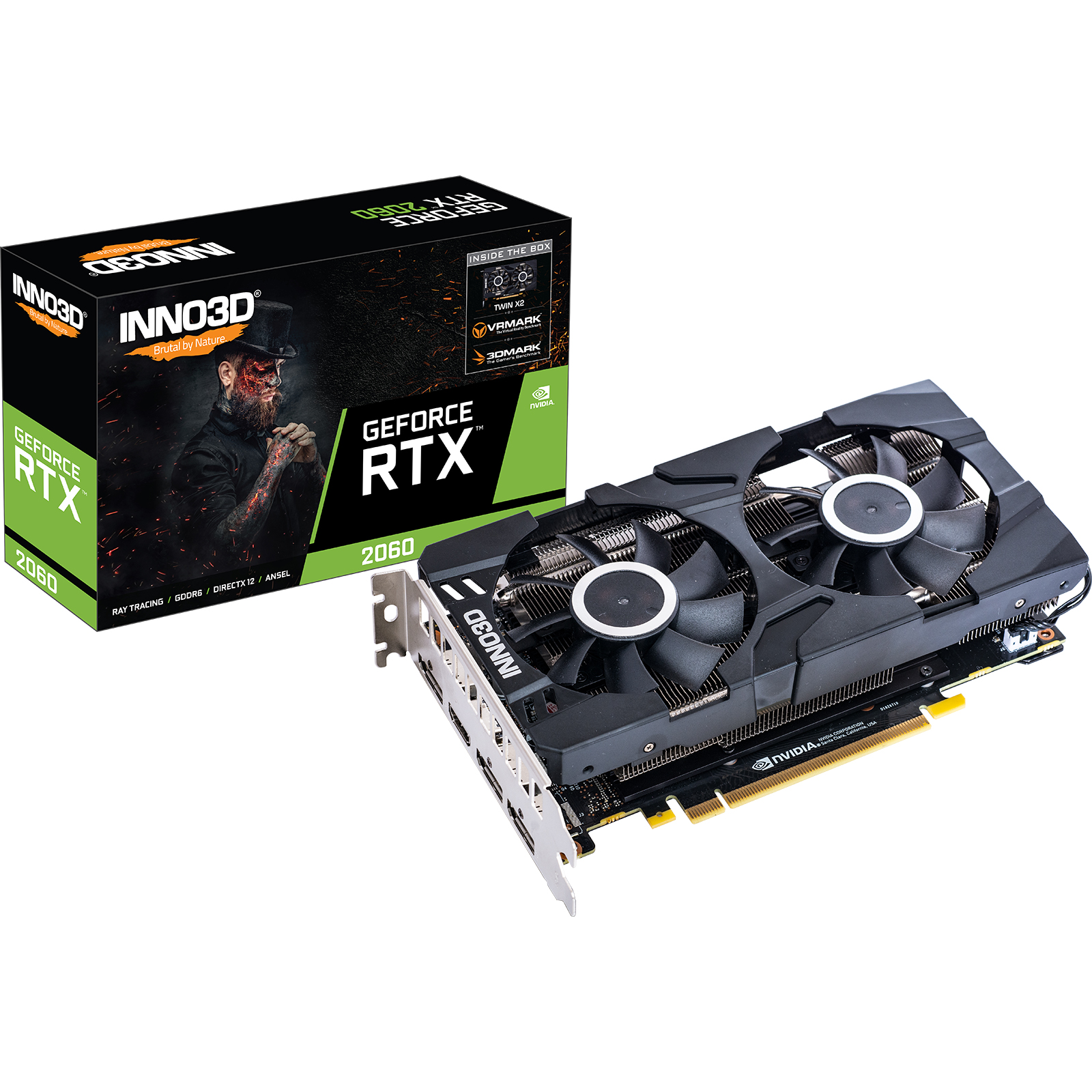 Carte graphique Inno3D RTX 2070 8Go DDR6 Twin X2 PCIe 3.0, informatique reunion, informatique ile de la Réunion 974