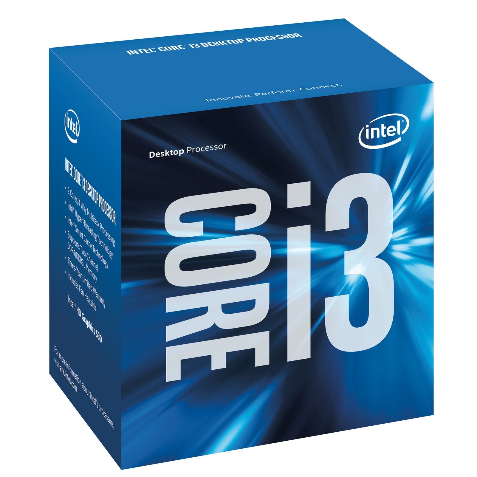 Processeur Intel Core i3 6100 Dual Core (3.70 GHz) Socket 1151 - Cache 3 Mo (Box), informatique ile de la réunion