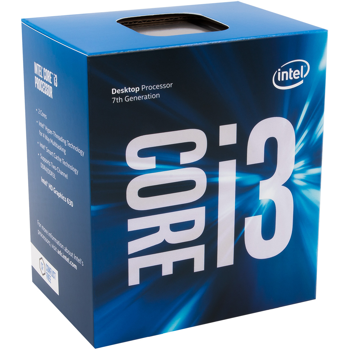 Processeur Intel Core i3 7100 Dual Core (3.90 GHz) Socket 1151 - Cache 3 Mo (Box), informatique ile de la réunion