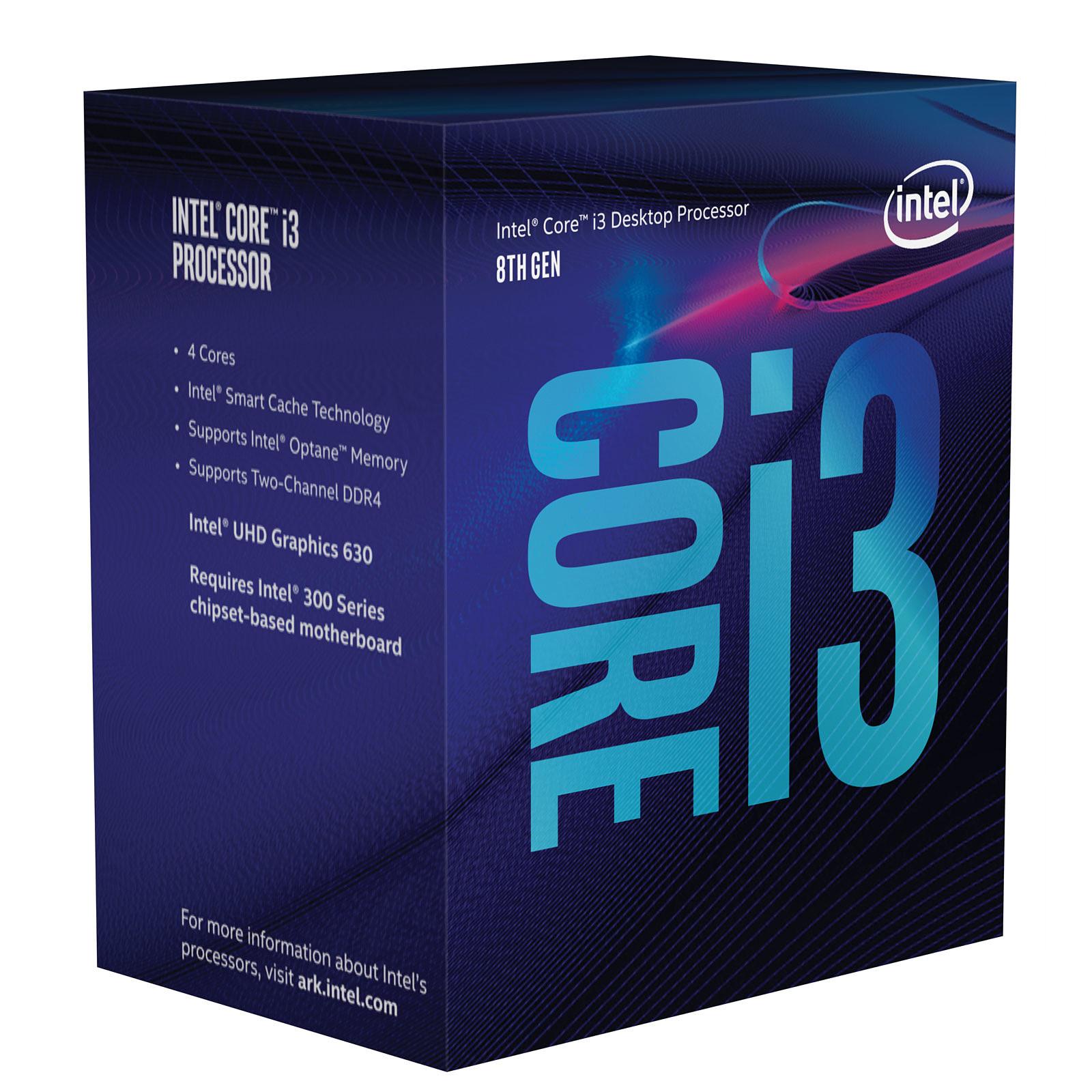 Processeur Intel Core i3 8100 Quad Core (3.60 GHz) Socket 1151 - Cache 6 Mo (Box), informatique ile de la réunion