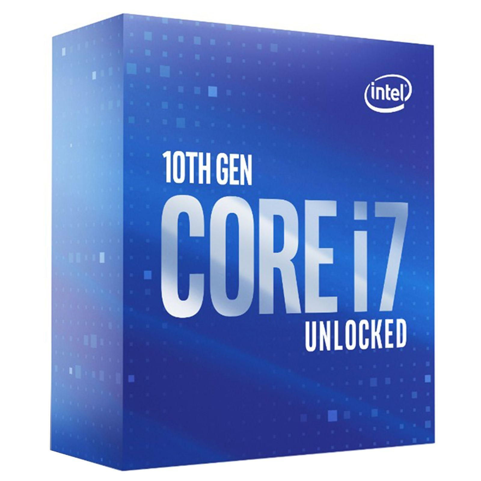 Processeur Intel Core i7 10700K 3.8 GHz / 5.1 GHz, 8 Core/16 Threads, Socket 1200, 16 Mo (Box) Sans radiateur, informatique ile de la réunion
