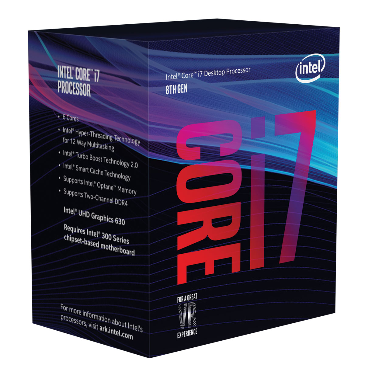 Processeur Intel Core i7 8700 Six Core (3.70 GHz) Socket 1151 - Cache 12 Mo (Box), informatique ile de la réunion