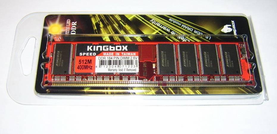 Mémoire KINGBOX DDR1 512 Mo PC3200 400MHz CL3, informatique ile de la Réunion 974