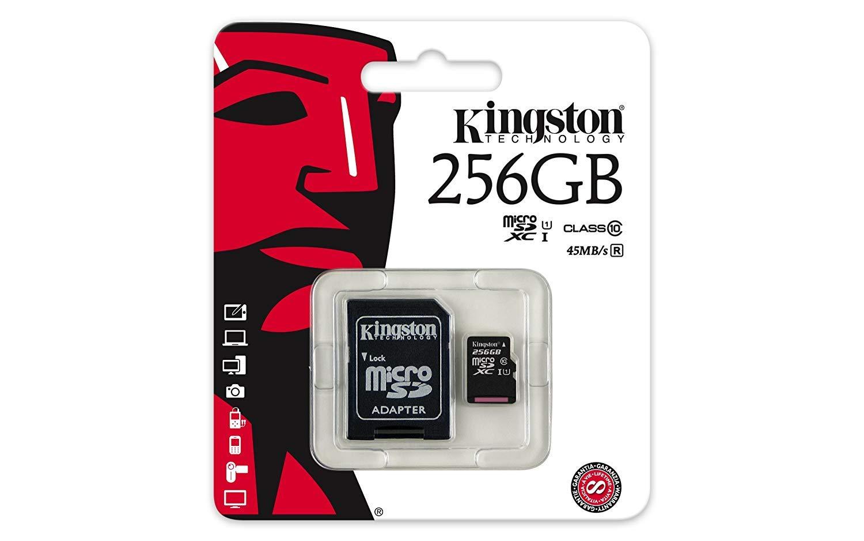 Carte mémoire Kingston micro SDXC classe 10 U1 256 Go + adaptateur SDXC, informatique ile de la réunion